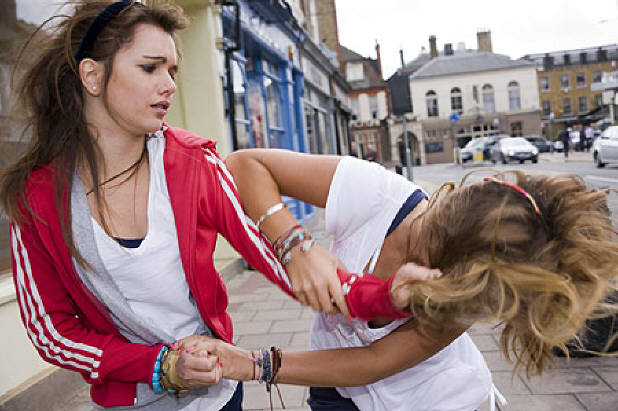 Girl Street fight