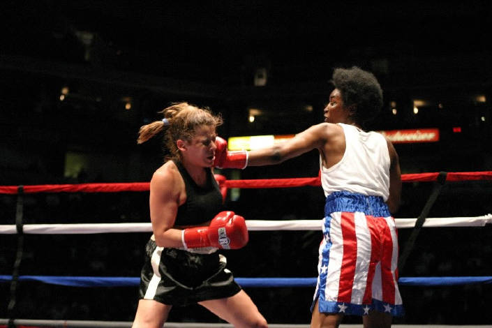 Girls boxing